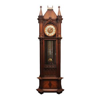 Gothic Revival Waltham Hall Clock  - Clocks