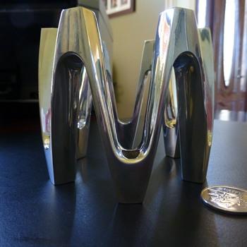 Dansk Design France Tiny Taper Crown candle holder - Mid-Century Modern
