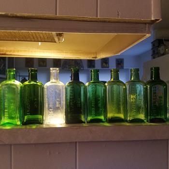Pisos color Run  Hazeltine & Co all Bottles I've Dug and collected over 15 plus yrs - Bottles