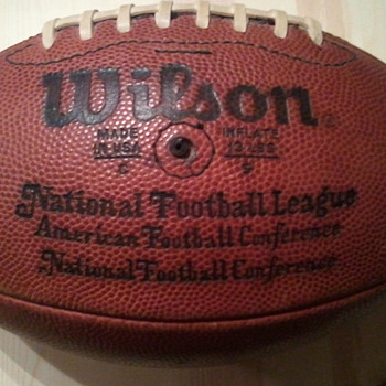 NFL official ball from Pete Rozelle era