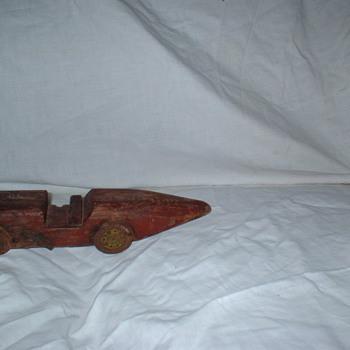Wooden Race car - Folk Art