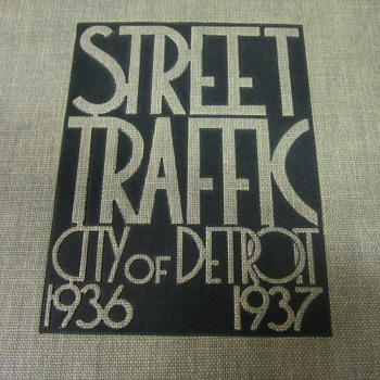 Amazingly deco WPA Detroit traffic analysis book - Books