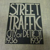 Amazingly deco WPA Detroit traffic analysis book