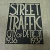 Amazingly deco WPA Detroit traffic analysis book