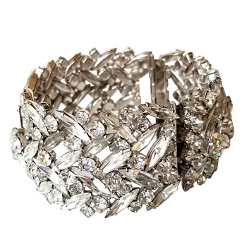 My newest acquisition….Crystal Clear Sherman Cuff Bracelet. - Costume Jewelry