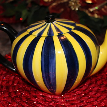 Cirque du Soleil Tea Pot Yellow and Blue Color Cirque du Soleil - Pottery