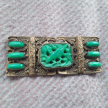 Gold ? Jade ? nurses buckle - Fine Jewelry
