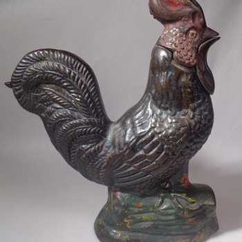 Crowing Rooster Mechanical Bank