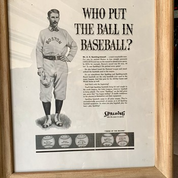1950's Spalding Baseball advertising Poster  - Advertising
