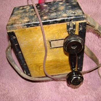 WWI Field Telephone - Signal Corps US Army - Military and Wartime