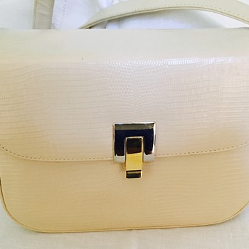 Zenith Handbag Made in Canada White Reptile Embossed Leather ? - Accessories