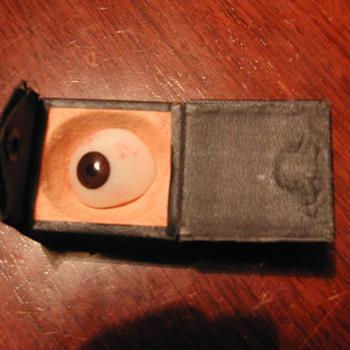Antique glass eye