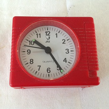 1970's-1980's French Jaz travel alarm clock. - Clocks