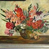 "Floral Still Life Signed ""A. Kirsten"" /Oil On Canvas 28""x 36"" Framed/ Circa 1940"
