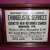 ~~~1934 Evangelistic Service Poster~~~