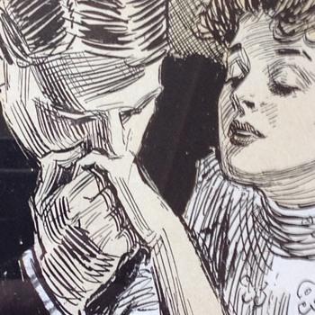 ORIGINAL PEN AND INK GIBSON GIRL ILLISTATION 1900-1915ish  - Advertising