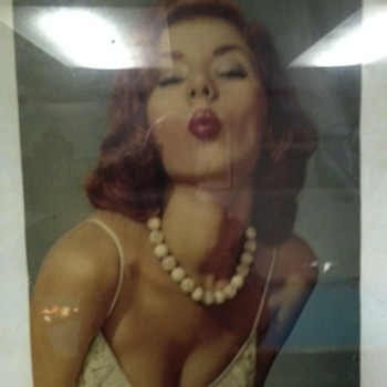 Pin up poster of a model circa 1955