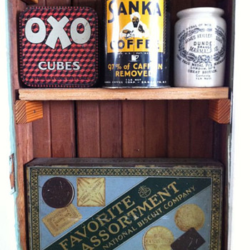 Vintage tins: Oxo, Sanka, Dundee, National Biscuit Company