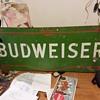Vintage Green budweiser sign