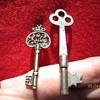 Two Antique Skeleton Keys. One for the Kings Treasure?  : )