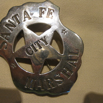 SANTA FE MARSHAL BADGE - Medals Pins and Badges