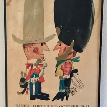 Ib Antoni Danish Fortnight Dallas Texas 1964  - Posters and Prints