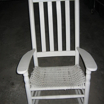 "Porch Rocker 1/4"" Oval reed seat  - Furniture"