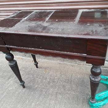 antique writing desk with lid, rosewood? - Furniture