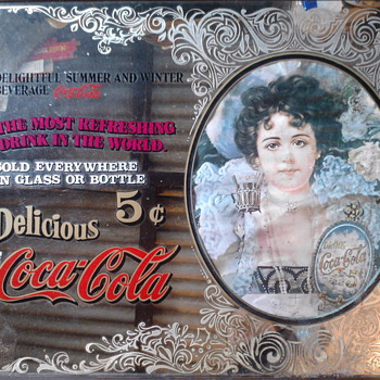 coca cola bar mirror - Coca-Cola