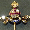 Queen Victoria's 1887 Golden Jubilee Diamond & Ruby Orb & Scepter stick pin.