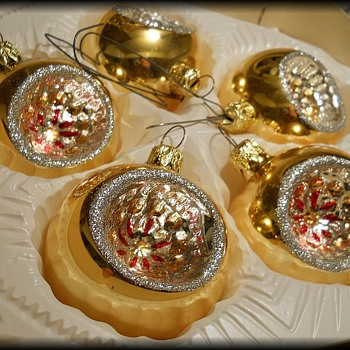 Memories --> My family Vintage Christmas Glass Ornaments  - Christmas