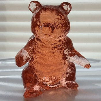 Mosser Glass bear  - Art Glass