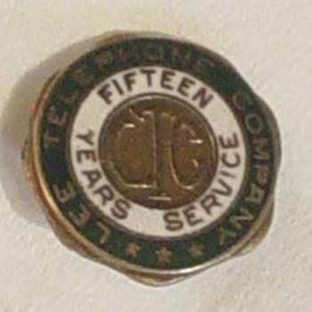 Lee Telephone Company Pin - Telephones