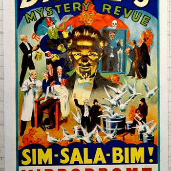 "Original 1937 Dante ""Mystery Revue"" Stone Lithograph Poster - Posters and Prints"
