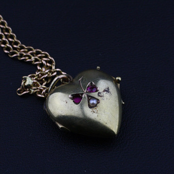 Victorian 14K heart locket - Fine Jewelry