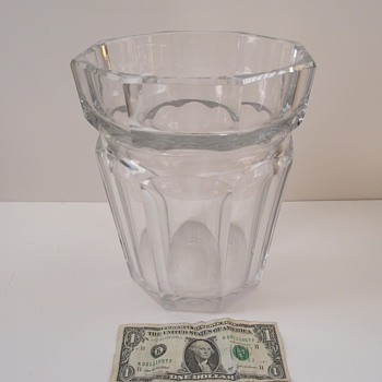 My Huge Vintage Baccarat Vaseice Bucket Collectors Weekly