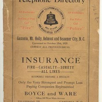 Piedmont Telephone & Telegraph - Telephones