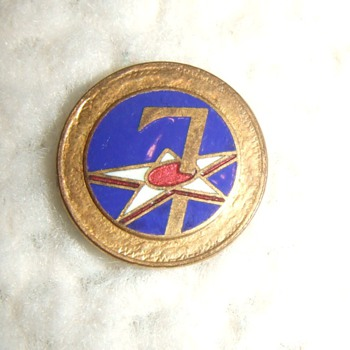 WW2 enameled patches for homefront items