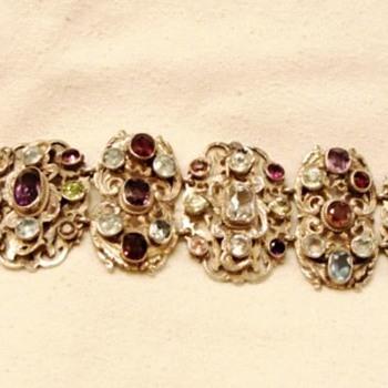 Arts and Crafts Multi Gemstone Bracelet - Fine Jewelry