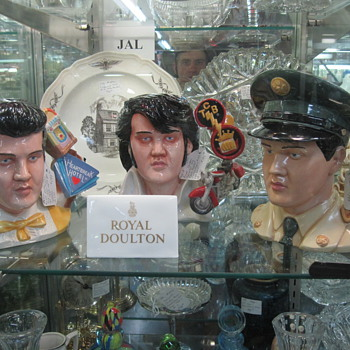 Elvis Busts Sighted at Mad Hatter Antiques - Music Memorabilia