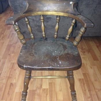 Vintage Ethan Allen captains tavern chair?