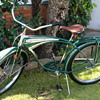 Kevins 1949 unrestored  orignal  Schwinn B. F. Goodrich Streamliner Survivor!