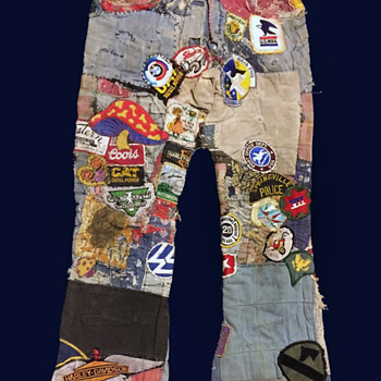 #12 ~ Original Progressive Hippie Denim Jeans took 40 years to Complete - Mens Clothing