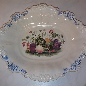 Counterfeit Wedgewood Fruit Basket Bowl 1840s - Pottery