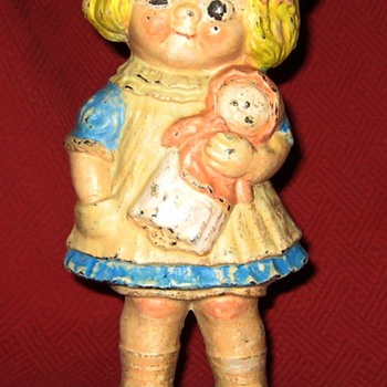 Hubley #45 Dolly Dingle  Doorstop By Grace Drayton - Tools and Hardware