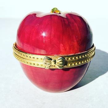 Vintage Porcelain Apple Jar - Pottery