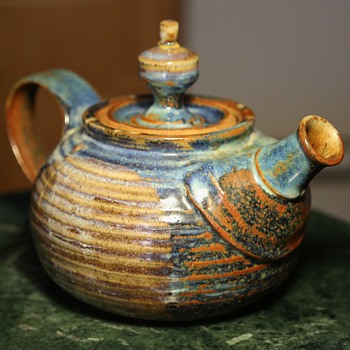 Another mystery signature!  Teapot by Lewis? - Pottery