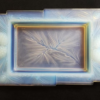 opalescent glass jardiniere by verlux - Art Deco