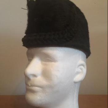 Victorian Scottish Rifles Bugler's Busby Cap  - Military and Wartime