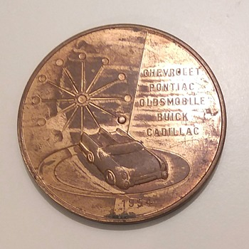 1954 General Motors Spinner Token - US Coins